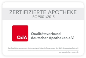 QdA-zertifizierte Apotheke Westerbach-Apotheke-Shop
