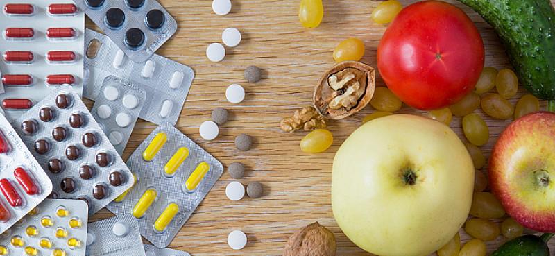 Nahrungsergänzungsmittel für gesunde Ernährung