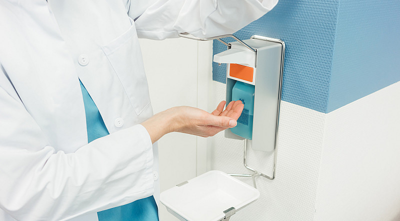 Schutz vor Viren Desinfektionsmittel und Händewaschen gegen Coronavirus