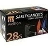 Wellion Safetylancets 28G Sicherheitseinmallanz, 200 ST, Med Trust GmbH