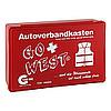 Senada CAR-INA Autoverbandkasten Go West rot, 1 ST, Erena Verbandstoffe GmbH & Co. KG