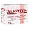 Wischstäbchen Alkohol Alkotip gr. Watterkpf, 50 ST, Diaprax GmbH
