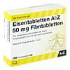 Eisentabletten AbZ 50 mg Filmtabletten, 100 Stück, Abz Pharma GmbH