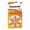 Batterie f. Hörgeräte Panasonic PR 13, 6 ST, Vielstedter Elektronik