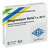 Magnesium Verla i.v.50% Infusionslösungskonzentrat, 5 ST, Verla-Pharm Arzneimittel GmbH & Co. KG