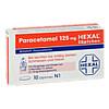 PARACETAMOL 125 mg HEXAL Zäpfchen, 10 Stück, Hexal AG