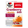 DOPPELHERZ Cranberry+Kürbis Kapseln, 60 ST, Queisser Pharma GmbH & Co. KG