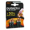 Batterie Micro LR03 AAA MN2400 DURACELL PLUS, 4 ST, Vielstedter Elektronik
