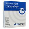 AKTIVMED Schaumstoffwundaufl.12,5x12,5 cm m.Haftr., 10 ST, Aktivmed GmbH