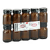 WEITHALSGLAS 75 ml braun m.Schraubdeckel schwarz, 10 ST, Caesar & Loretz GmbH