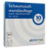AKTIVMED Schaumst.Wundaufl.sens.silikonb.10x10cm, 10 ST, Aktivmed GmbH