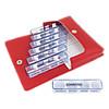 Medidos Medikamentendosierer Kunstleder rot, 1 ST, Eb Vertriebs GmbH
