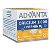 ADVANTA Calcium 1000mg + Vitamin D3 Sachets, 60X6.2 G, Tsi GmbH & Co. KG