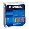 Microlet Lanzetten farbig, 200 ST, kohlpharma GmbH