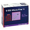 BD MICRO-FINE+ Insulinspr.0.5 ml U100 0.3x8 mm, 100 ST, Docpharm Arzneimittelvertrieb GmbH & Co. KG Aa