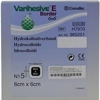 VARIHESIVE E BORDER 6X6cm HKV 965251, 5 ST, Bios Medical Services GmbH