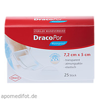 Dracopor Waterproof Wundverband steril 5cmx7.2cm, 25 ST, Dr. Ausbüttel & Co. GmbH