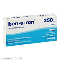 ben-u-ron 250mg Zäpfchen, 10 ST, Bene Arzneimittel GmbH