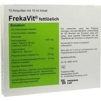 FrekaVit fettlöslich Glas, 10X10 ML, Fresenius Kabi Deutschland GmbH