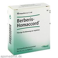BERBERIS HOMACCORD, 10 ST, Biologische Heilmittel Heel GmbH