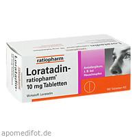 Loratadin-ratiopharm 10mg Tabletten, 100 ST, ratiopharm GmbH
