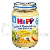 Hipp 6200 Feiner Mais m. Kartoffelpüree u.Bio Pute, 190 G, Hipp GmbH & Co.Vertrieb KG