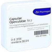 CAPSULAE Operculatae Kapseln Nr.2 0,37, 100 ST, Pharmapol Arzneimittelvertrieb-GmbH