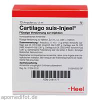 CARTILAGO SUIS INJ ORG, 10 ST, Biologische Heilmittel Heel GmbH
