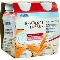 RESOURCE Energy Aprikose, 4X200 ML, Nestle Health Science (Deutschland) GmbH