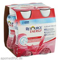 RESOURCE Energy Erdbeer/Himbeer, 4X200 ML, Nestle Health Science (Deutschland) GmbH