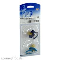 Sauger- Beruhig.Kirsche Latex 0-3 Mon. blau/petro, 2 ST, Büttner-Frank GmbH