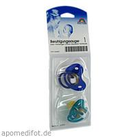Sauger- Beruhig.Kirsche Latex 2-6 Mon. blau/petro, 2 ST, Büttner-Frank GmbH