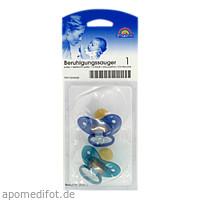 Sauger- Beruhig.Kieferorth.Latex 0-6Mon.blau/petro, 2 ST, Büttner-Frank GmbH