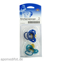 Sauger- Beruhig.Kieferorth.Latex 6-18Mon.blau/petr, 2 ST, Büttner-Frank GmbH