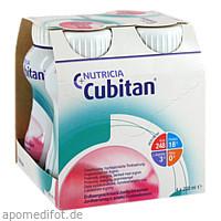 Cubitan Erdbeergeschmack Trinkflasche, 4X200 ML, Nutricia Milupa GmbH