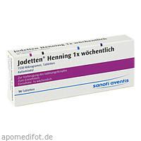 Jodetten Henning 1x wöchentlich, 14 ST, Sanofi-Aventis Deutschland GmbH