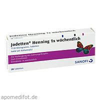 Jodetten Henning 1x wöchentlich, 28 ST, Sanofi-Aventis Deutschland GmbH