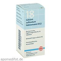 BIOCHEMIE DHU 18 CALCIUM SULFURATUM HAHNEMANNI D12, 80 ST, Dhu-Arzneimittel GmbH & Co. KG
