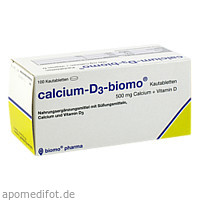 Calcium-D3-biomo Kautabletten 500+D, 100 ST, Biomo Pharma GmbH