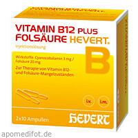 Vitamin B12 + Folsäure Hevert, 2X10 ST, Hevert Arzneimittel GmbH & Co. KG