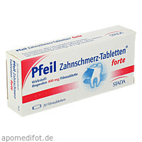 Pfeil Zahnschmerz-Tabletten forte, 20 ST, STADA Consumer Health Deutschland GmbH