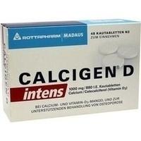 Calcigen D intens 1000 mg/880 I.E.Kautabletten, 48 ST, Meda Pharma GmbH & Co. KG