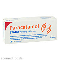 Paracetamol STADA 500mg Tabletten, 20 ST, STADA Consumer Health Deutschland GmbH