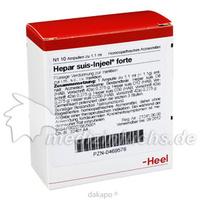 HEPAR SUIS INJ FORTE ORG, 10 ST, Biologische Heilmittel Heel GmbH