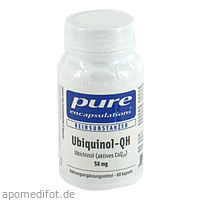 PURE ENCAPSULATIONS UBIQUINOL-QH 50MG, 60 ST, Pro Medico GmbH