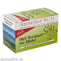 H&S Kreislauftee Mistel, 20X2.0 G, H&S Tee - Gesellschaft mbH & Co.