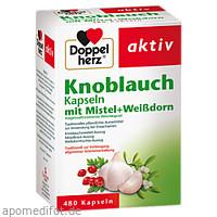 DOPPELHERZ Knoblauch Mistel Weißdorn Kapseln, 480 ST, Queisser Pharma GmbH & Co. KG