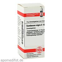SAMBUCUS NIGRA C12, 10 G, Dhu-Arzneimittel GmbH & Co. KG