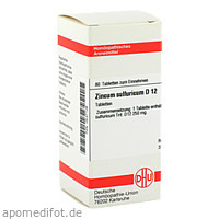 ZINCUM SULFURICUM D12, 80 ST, Dhu-Arzneimittel GmbH & Co. KG
