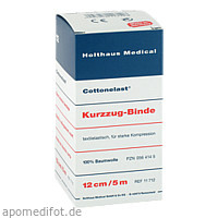 Kurzzugbinde Cottonelast 12cmx5m, 1 ST, Holthaus Medical GmbH & Co. KG